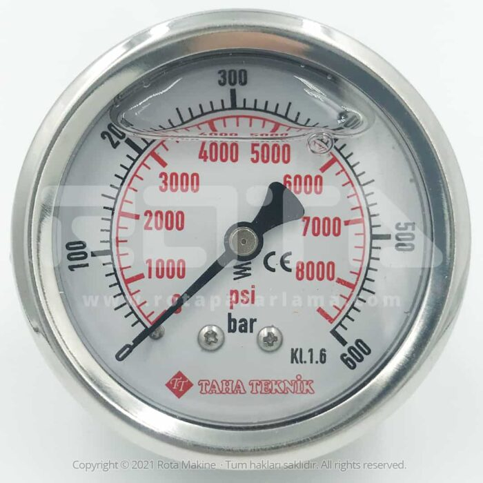 Rota Basincli Yikama Makinesi Basinc Saati Manometre 2 - Basınçlı Yıkama Makinesi Basınç Saati Manometre