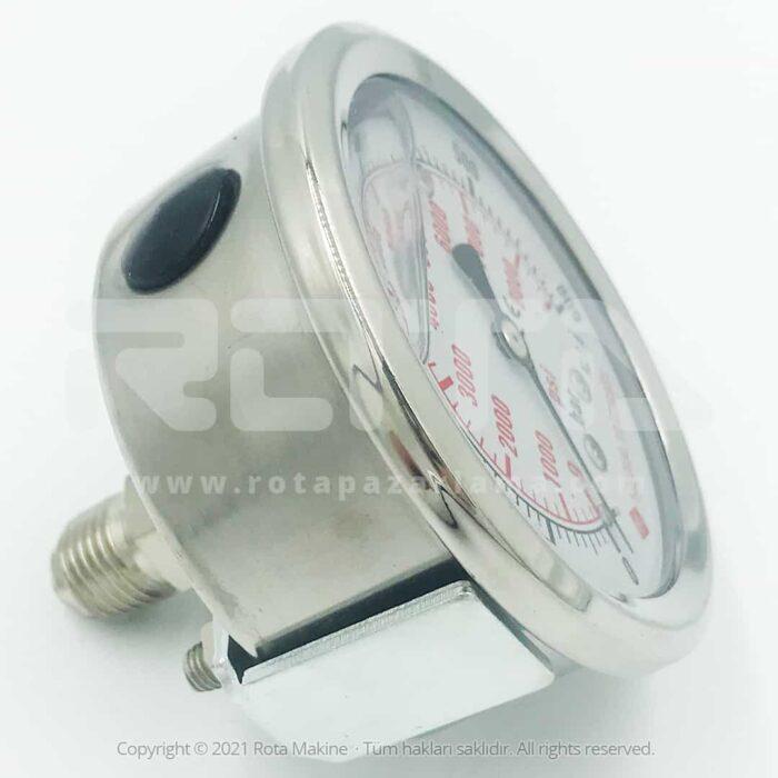 Rota Basincli Yikama Makinesi Basinc Saati Manometre 3 - Basınçlı Yıkama Makinesi Basınç Saati Manometre
